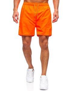 Оранжевые мужские пляжные шорты Bolf YW02001
