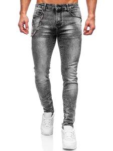 Серые мужские джинсы slim fit Bolf 61005S0