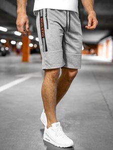 Серые мужские спортивные шорты Bolf JX211