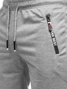 Серые мужские спортивные шорты Bolf JX503