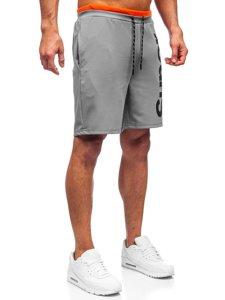 Серые мужские спортивные шорты Bolf KS2598