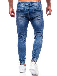 Темно-синие мужские джинсы джоггеры Bolf KA1860