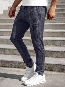 Темно-синие мужские спортивные брюки Bolf 5959