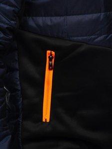 Темно-синяя спортивная мужская демисезонная куртка Bolf m10001