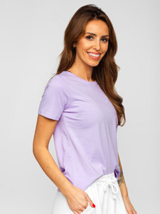 Фиолетовая женская футболка без принта Bolf SD211