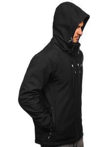 Черная мужская куртка софтшелл Bolf WX057