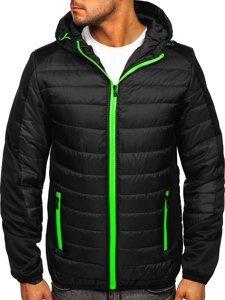 Черная спортивная мужская демисезонная куртка Bolf M10002