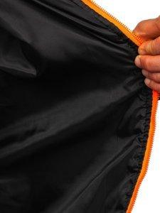 Черная спортивная мужская демисезонная куртка Bolf M10017