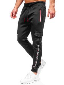 Черные мужские спортивные брюки карго Bolf K10279