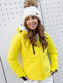 Біла зимова жіноча лижна куртка Bolf HH012