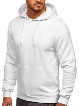 Біла чоловіча толстовка худі з капюшоном Bolf 146253