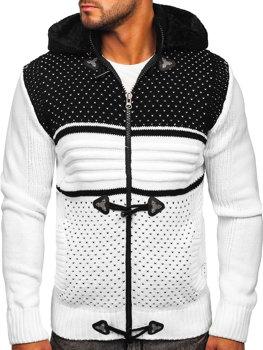 Білий чоловічий светр товстої в'язки Bolf 2047