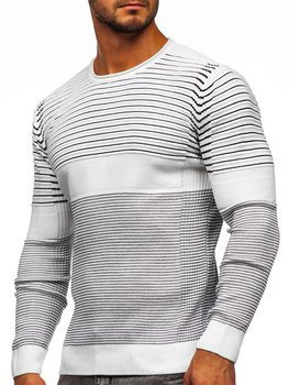 Білий чоловічий светр Bolf 1014