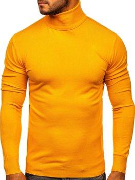 Жовта чоловічий светр гольф Bolf YY02