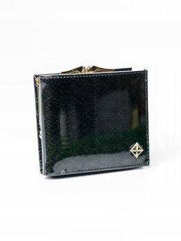 Жіночий гаманець з еко шкіри чорний 3006