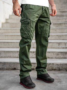 Зелені чоловічі штани карго plus size з поясом BOLF CT8901