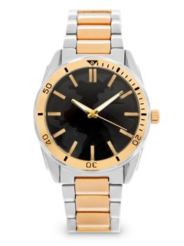 Золотий чоловічий наручний годинник зі сталі Bolf 5690-2