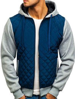 Куртка демісезонна CADDIIN A91 темно-синя