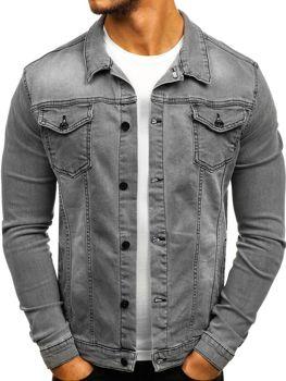 Куртка джинсова чоловіча сіра Bolf 2051 8045e2d9770b4