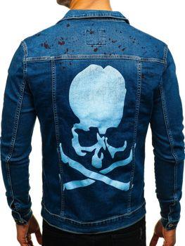 Куртка джинсова чоловіча темно-синя Bolf 2052-1