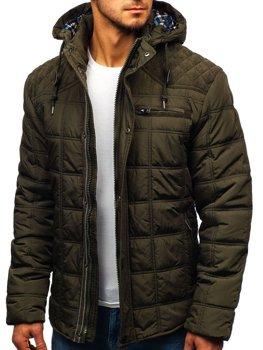 Куртка чоловіча зимова Зелена Bolf 1820