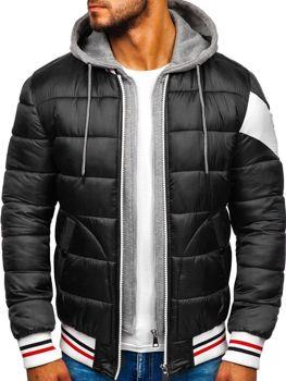 Куртка чоловіча зимова спортивна чорна Bolf JK395