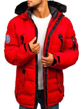 Лижна чоловіча зимова куртка червона Bolf 5423 ec737e2f34d9c
