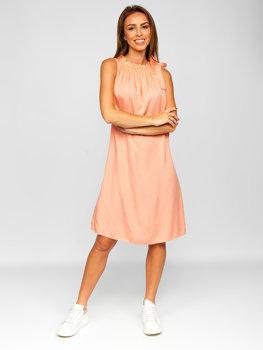 Помаранчеве жіноче плаття Bolf 9785