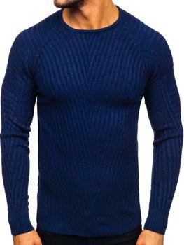Светр чоловічий темно-синій Bolf 285