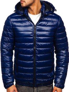 Синя демісезонна чоловіча стьобана куртка Bolf 6794