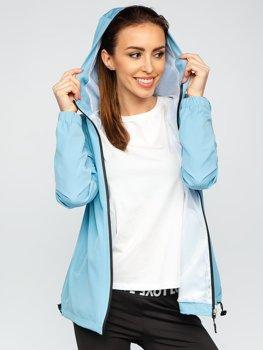 Синя куртка жіноча вітровка перехідна спортивна Bolf HH036