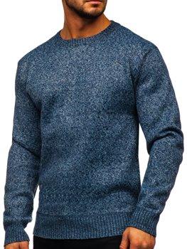Синій утеплений Чоловічий светр Bolf 7M117