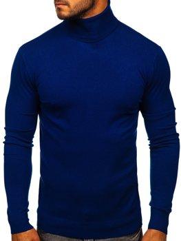 Синій чоловічий светр гольф Bolf YY02