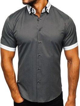 Сорочка чоловіча BOLF 1808 чорна