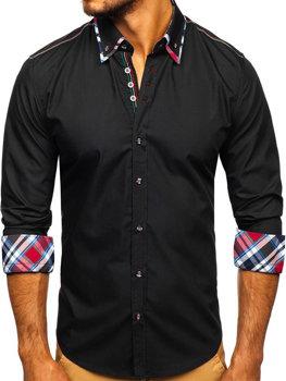 Сорочка чоловіча BOLF 3701 чорна