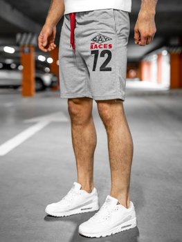 Спортивні чоловічі шорти сірі Bolf EX05