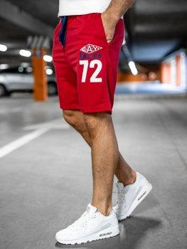 Спортивні чоловічі шорти червоні Bolf EX05
