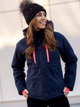 Темно-синя зимова жіноча лижна куртка Bolf HH012