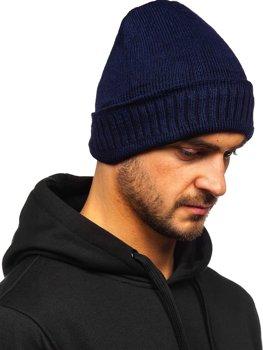 Темно-синя зимова чоловіча шапка YS-32