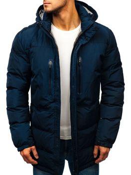 Темно-синя чоловіча зимова куртка Bolf 1669