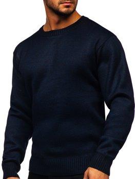Темно-синій утеплений Чоловічий светр Bolf 7M117