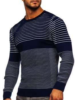 Темно-синій чоловічий светр Bolf 1014