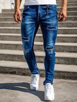 Темно-сині чоловічі джинси slim fit Bolf 80033W0