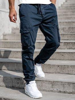 Темно-сині чоловічі штани джоггери-карго Bolf 8956