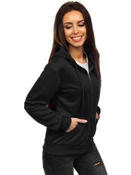 Толстовка жіноча з капюшоном чорна Bolf WB1005