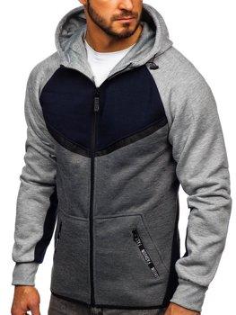 Толстовка чоловіча з капюшоном темно-синя Bolf 80688
