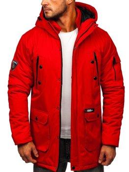 Червона чоловіча зимова куртка Bolf HY827