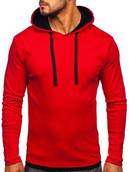 Червона чоловіча толстовка з капюшоном Bolf 03