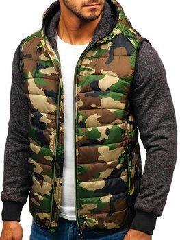 Чоловіча демісезонна куртка камуфляж-салатова Bolf 3757