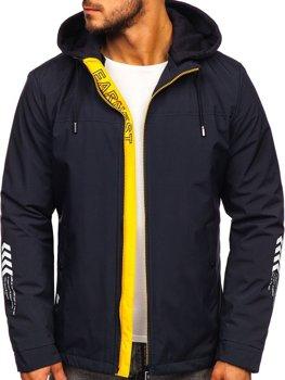 Чоловіча демісезонна куртка темно-синя Bolf 5985